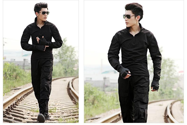 Black Tactical Combat Uniform Gen3 shirt + pants Military Army Pants knee pads ACU MULTICAM WOODLAND DIGI