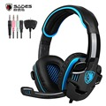 Original SADES SA 708GT Gaming Headset Headphones Stereo Computer Gamer Earphones with Microphone for Xbox 360