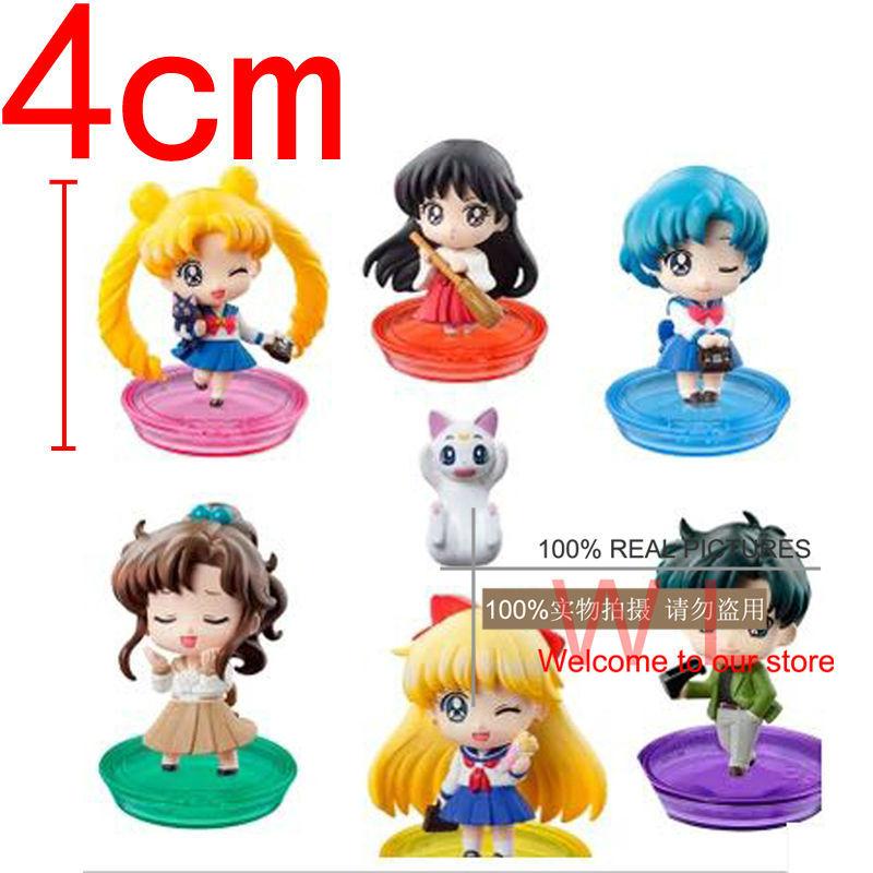 New Arrival Anime Cartoon Sailor Moon Mizuno Ami Pretty Soldier Q Version PVC Action Figure Model Toys Dolls 6pcs/set Kids Gift<br><br>Aliexpress