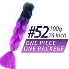 Pageup 24 дюйма 105 цветные длинные волосы в стиле jumbo вязанные пряди Омбре плетение волос синий розовый серый африканские синтетические волосы д...(China)