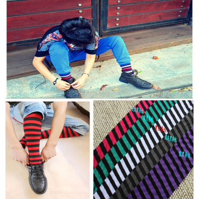 The men s sexy black and White Striped Tights Pantyhose Stockings man man low rise thin