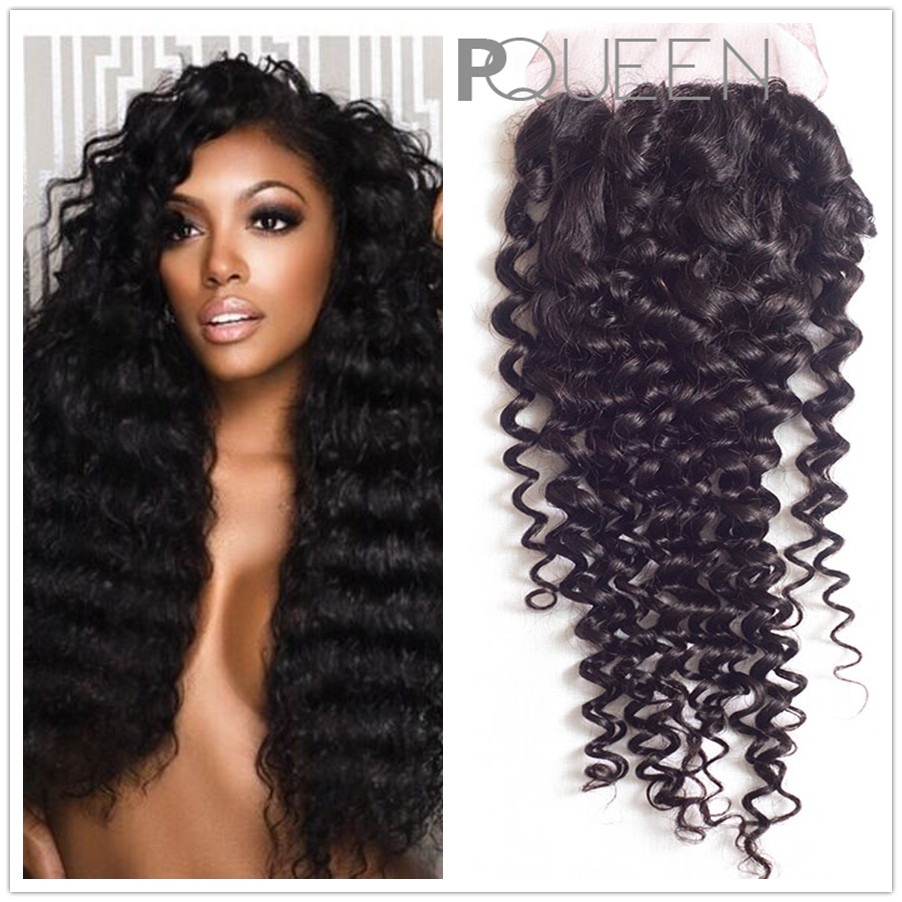 6A Peruvian Kinky Curly Hair With Closure 3 Bundles Lot With Free Part  Lace Closure Human Hair Weave Kinky Curly  Virgin Hair<br><br>Aliexpress