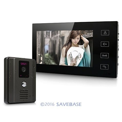 "7"" Color Video Door Phone Intercom With 700TVL CMOS Rainproof IR Sensor Camera(China (Mainland))"