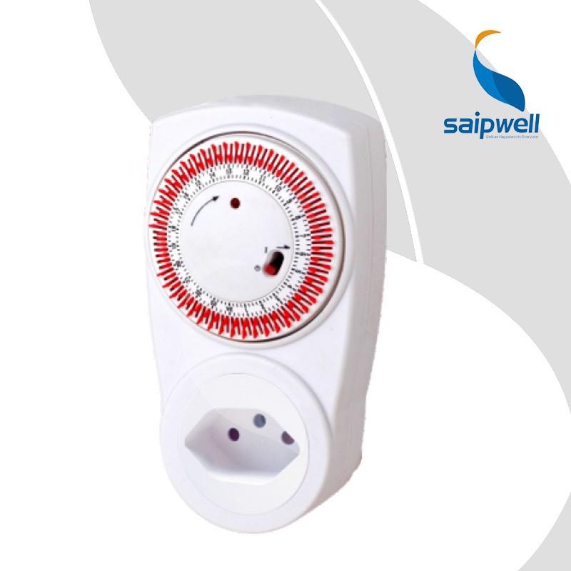 2pcs/lot 10A 230V~ , Switzerland Plug 24 Hours Mechanical Timer / Timer Socket Switch Controller (SP-TS-01A)(China (Mainland))