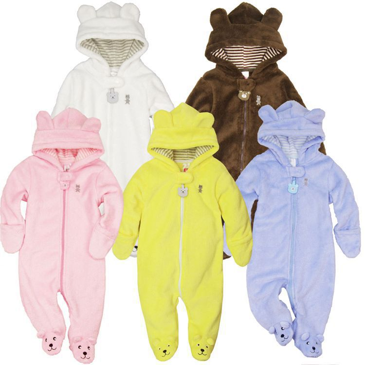 2014 Autumn Winter Baby Rompers Infant One Piece Newborn Brand Carters Hoodies Jumpsuit Baby Girl Boy Clothing free shipping(China (Mainland))