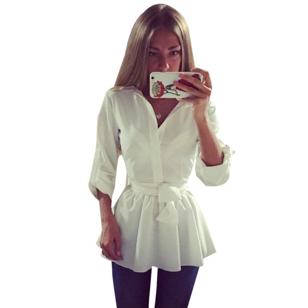 White Cute Blouse 76