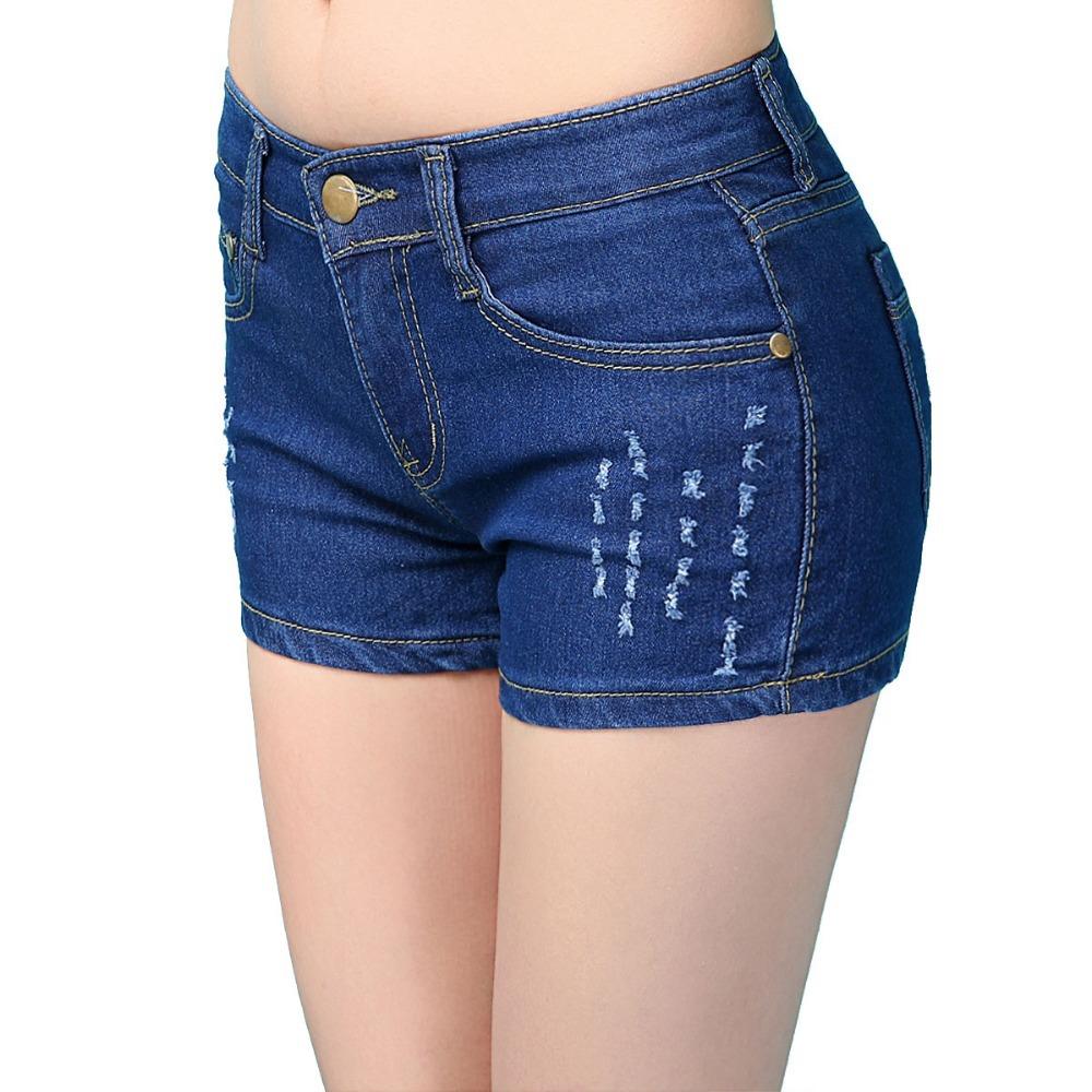 2015 summer new women's denim shorts female Korean washing do the old denim shorts worn jeans fit Harlan XL 25-29 K1305(China (Mainland))