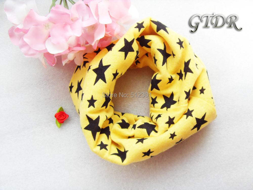 9 color Classic children's cotton scarf kids boy girl Ring Scarfs Shawl Unisex Winter knitting stars Collar Neck Warmer new 2015(China (Mainland))