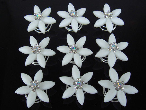 2015 Limited New Romantic Hair Sticks Resin Zinc Alloy Clips For Hair Free Shipping 10pcs Wedding Flower Hair Twists Spins Pins(China (Mainland))