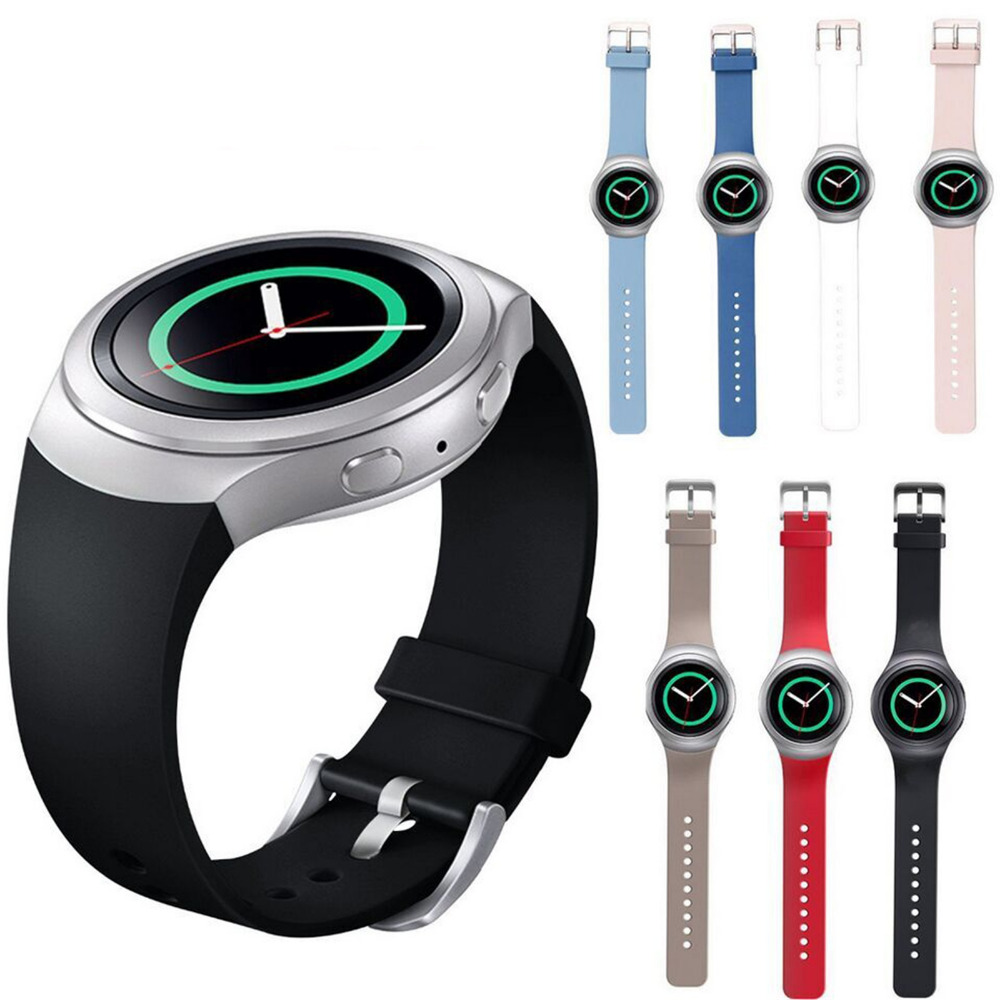 New Silicone Replacement watchband Wrist Bands strap &amp; Clasp for Samsung Galaxy Gear S2 BSM-R720 watch<br><br>Aliexpress