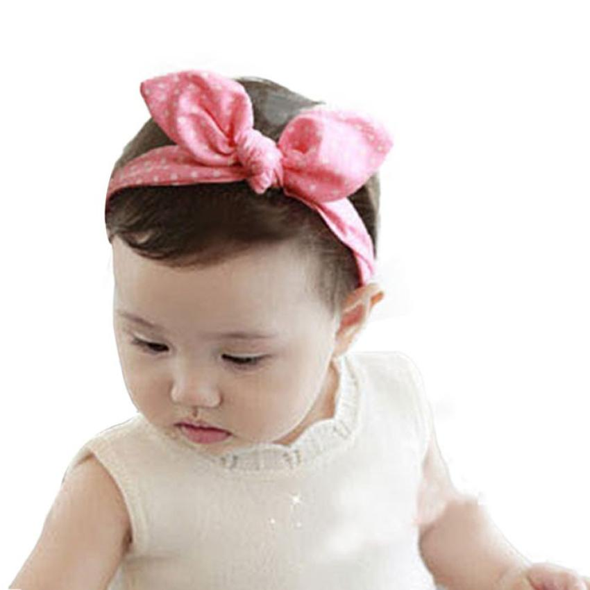 Baby Headbands, Bows & Accessories Our assortment of elegant baby headbands, cute bows and flower hair clips provide the perfect way to top off your little darlings look. Soft nylon and elastic ensure they stay put on your newborn's head, while their lovely designs instantly give her a feminine look.