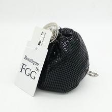 Boutique De FGG Mini mode en aluminium jour embrayages femmes porte-monnaie De style décontracté sac d'argent soirée dîner embrayage sac à main(China)