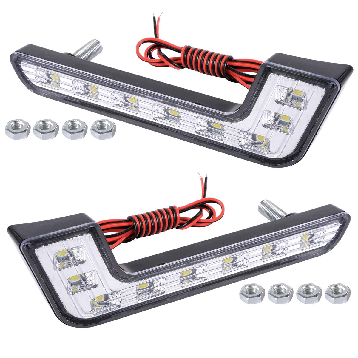 2x 6000k Car Daytime Running DRL Bright Driving Day Light Head Lamp 8 LED white MA145(China (Mainland))