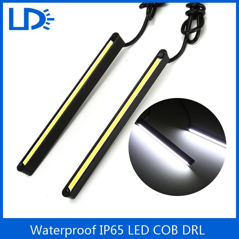2PCS/ 1 Set LED COB Daytime Running Light 11cm DRL Waterproof 12V Car Styling Metal Housing Driving Lamp LED Light Source Light(China (Mainland))