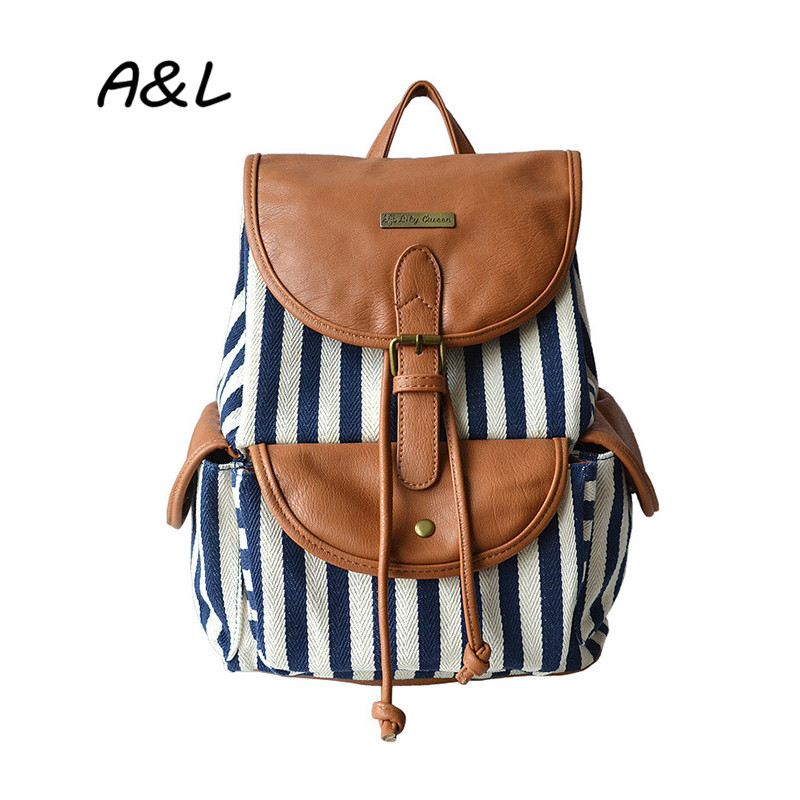 Women Canvas Backpack School Teenager Stylish Backpack Girl Casual Printing Patchwork Bag Lady Outdoor Travelling Package A0057(China (Mainland))