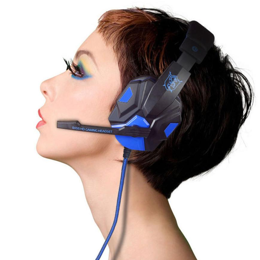 Surround Stereo Gaming Headset Headband Headphone USB 3.5mm LED with Mic for PC<br><br>Aliexpress