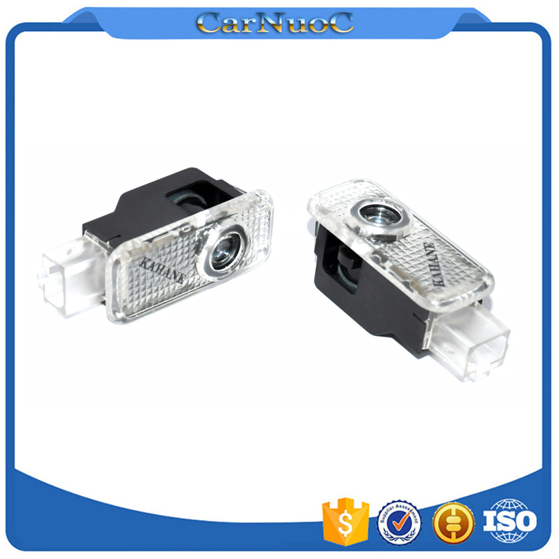 2 x LED Car Door Light ghost shadow light logo projector For Audi A3 A4 A5 A6 A7 A8 Sline s4 s5 s6 s7 TT Q7 Q5 Q3 rs Q3 S8(China (Mainland))