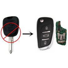 REMOTE KEY 2 BUTTONS For PEUGEOT 206 207 433MHz ID46 Chip Keyless Entry Fob CAR Controler(China (Mainland))
