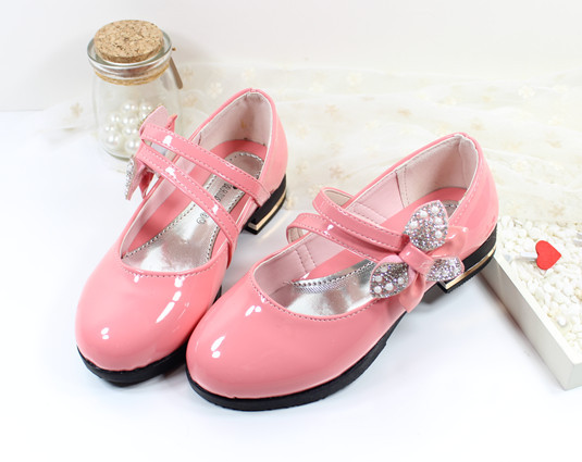 Spring 2015 New Children'S Shoes Girls Princess Shoes Diamond Bow Childrens Girls Patent Leather Shoes Tudent Dancing Shoes(China (Mainland))
