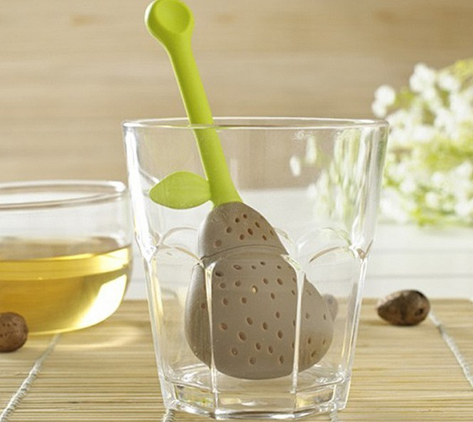 Portable Cute Pear Herb Tea Spice Silicone Infuser Teapot Diffuser Herbal Strainer Filter Free shipping  Portable Cute Pear Herb Tea Spice Silicone Infuser Teapot Diffuser Herbal Strainer Filter Free shipping