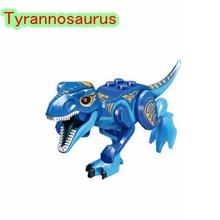 Legoings Jurassic Dinosaurs World Park Dinosaur Raptor protection zone Building Blocks Set Kids Toys juguetes Compatible Legoing(China)