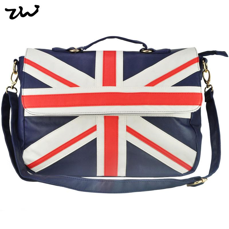 HEC Flag Patchwork Men Messenger Bags Casual Sport Bag For Men Navy Color Pu Leather QQ1591(China (Mainland))
