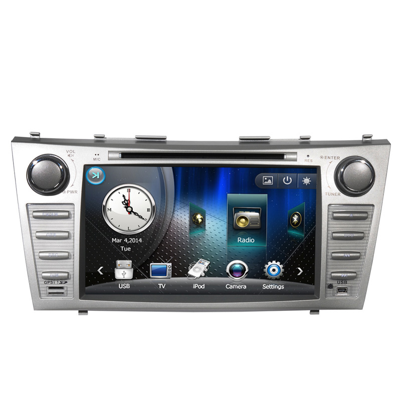 Free Shipping 8 inch Car DVD Player GPS Navigation System For Toyota Camry 2007 2008 2009 2010 2011 BT Steering wheel control(China (Mainland))