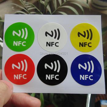 (6 шт./компл.) Водонепроницаемый Материал 6 Цвета Наклейки NFC Смарт-Клей Ntag213 Теги Совместим со Всеми Телефонами