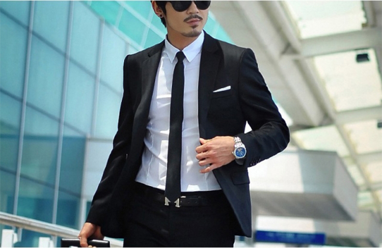 35-Free Shipping New 2015 man suit classic Fashion grooms man suits! Men's Blazer Business Slim Clothing Suit And Pants