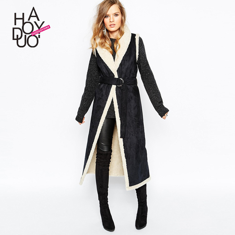 2015 Fashion Lady Faux Fur Coat Long Sleeve Women's Winter Overcoat Girl's Warm Outerwear Autumn Jackets Suede Black F290