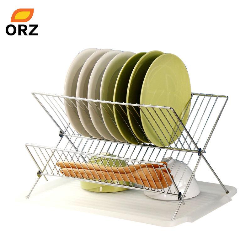Kitchen Under Sink Plate Dish Rack Shelf Organizer Holder