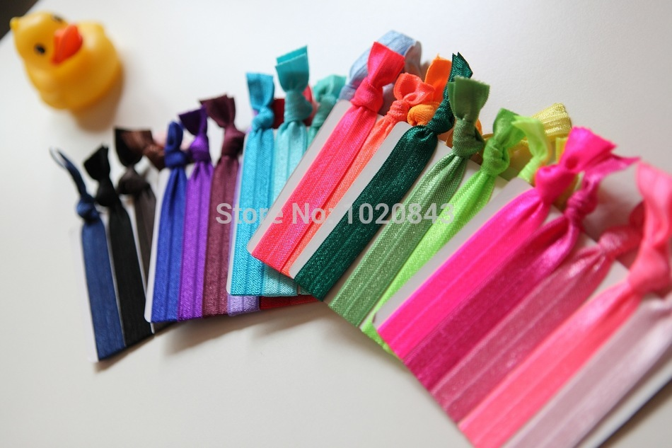100 Pcs/lot Wholesale Candy Color Ponytail Holders twist yoga Ribbon Elastic Bands/ Hair Ties Hair Accessories 32 colors(China (Mainland))