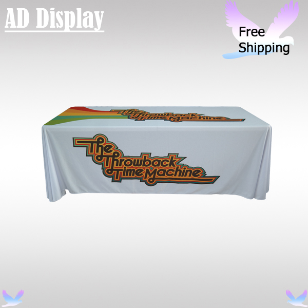 High Quality 6ft Loose Fit Advertising Table Cloth Printing,Exhibition Booth Table Cover,Table Throw Full Color Printing(China (Mainland))