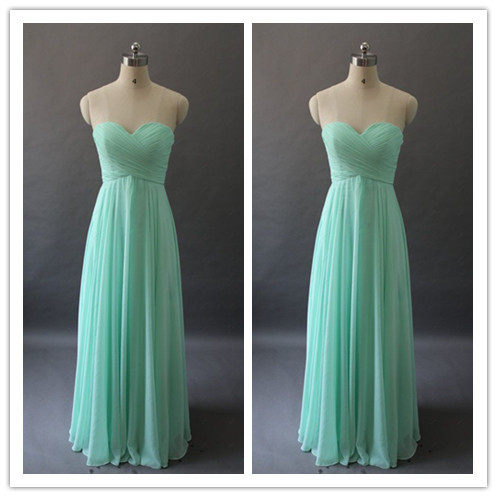 Hot sale in stock long mint green bridesmaid dress beach for Green beach wedding dresses