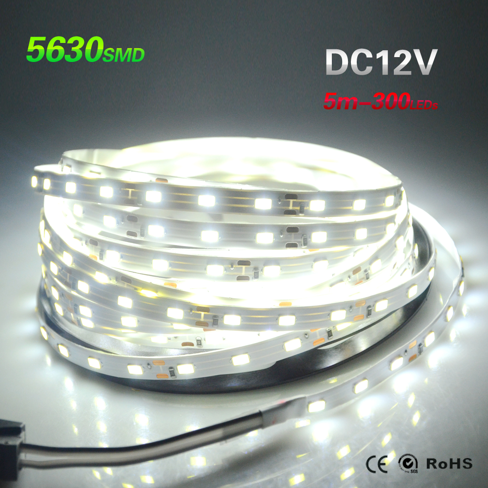 5M 10M 20M 50M 5630 SMD LED Strip Light Ribbon Tape Lamp 300Leds 60LED/M IP20 LED Light Brighter than 5050 3528 3014 2835 Strip(China (Mainland))