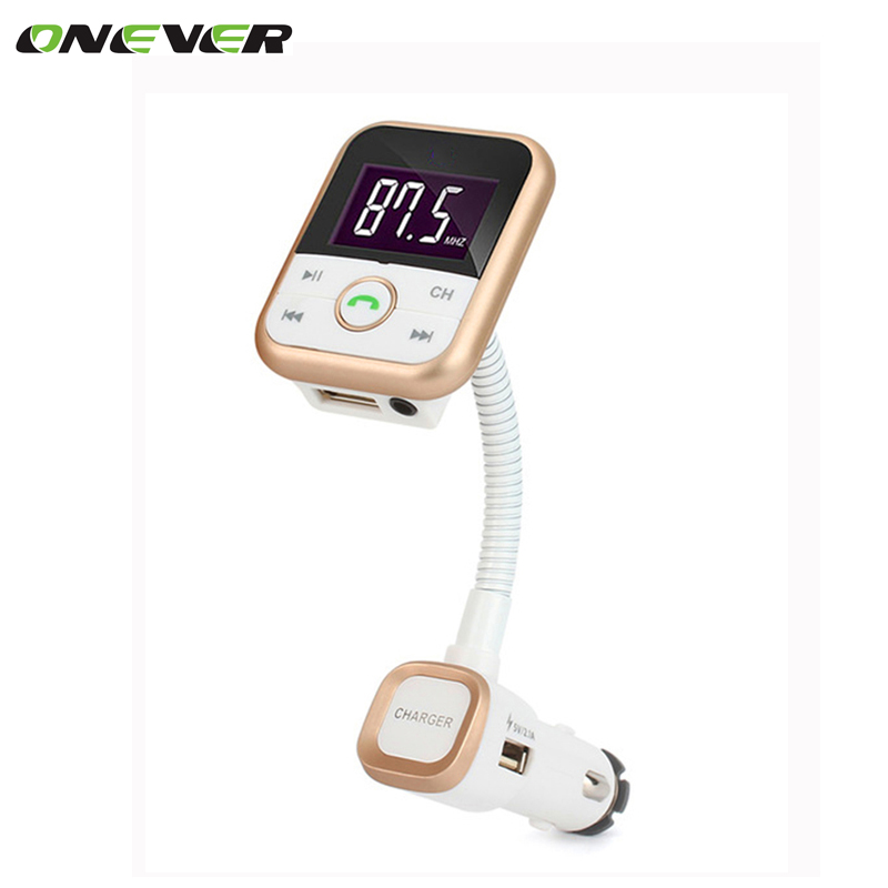 New Arrival Wireless Bluetooth FM Transmitter Car Kit MP3 Player Support SD USB with LCD Remote FM Modulator For iPhone Samsung