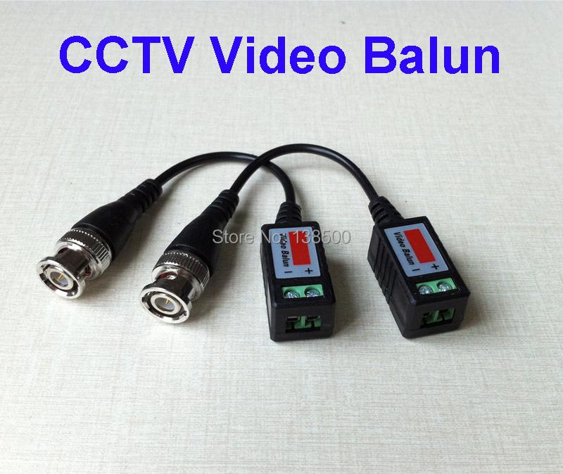 Здесь можно купить  Free Shipping Wholesale Twisted BNC CCTV Video Balun passive Transceivers UTP Balun BNC Cat5 30pcs one pack  Безопасность и защита