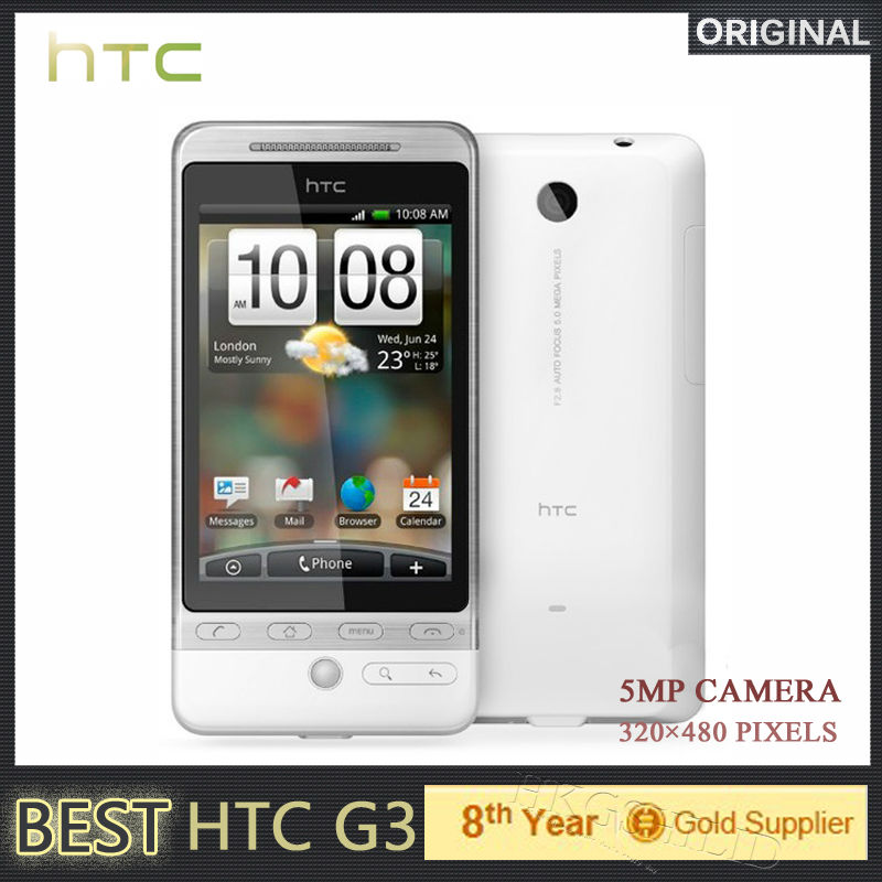 "Original HTC G3 Android Phone GPS Wi-Fi 5.0 MP Camera 3.2""inch TouchScreen 3G mobile phone Refurbished(Hong Kong)"