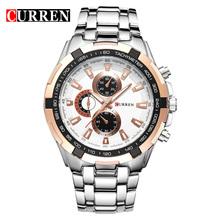 Buy CURREN Mens Watches Top Brand Luxury Male Military Wrist Watches Full Steel Men Sport Watch Waterproof Clock Relogio Masculino for $12.23 in AliExpress store