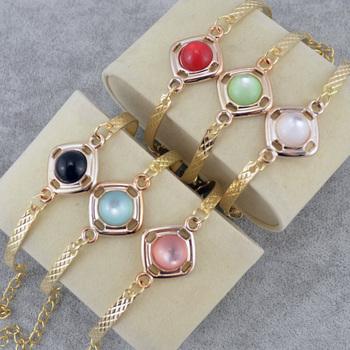 18K Золото Pated indian bangles 6 Цветs Crystal woman bracelet bracelets bangles ...