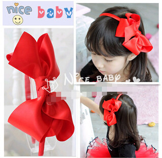 Freeshipping!New Girls/Kids/Infant/Baby color bowknot hairclip/hairhoop/ Hairband/Hair ornament/Accessories/headwear,ZXM085 - Vifa (mamufacturer store baby&bride headwear Center)