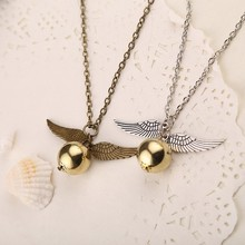 harry potter snitch gold necklace  free shipping C128 C129(China (Mainland))