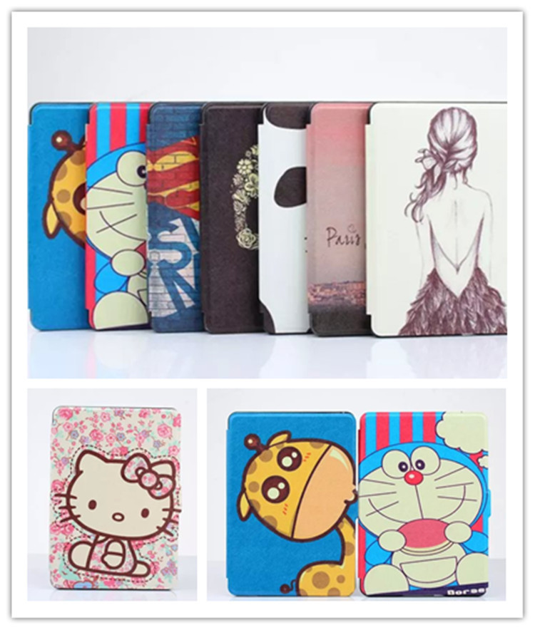 G11 For 6 inch Amazon Kindle paperwhite 2, Superman CARTOON HELLO KITTY GIRL Flip Leather Case Protective Kindle Cover XY(China (Mainland))