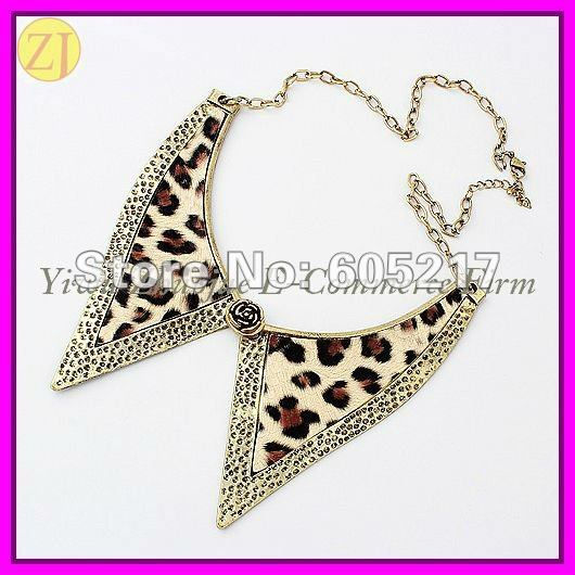 Free Shipping Wholesale Animal Print Fashion Collar Necklace Jewellery N-347(China (Mainland))