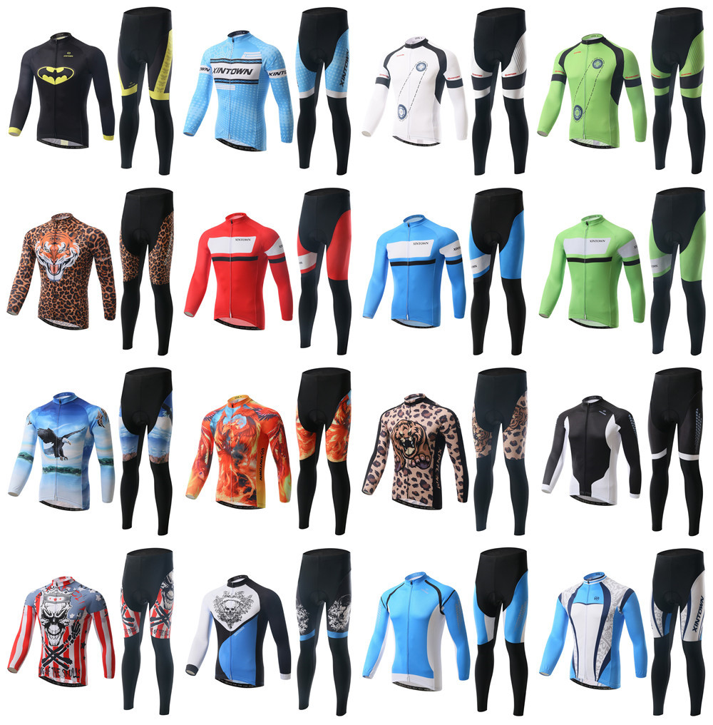 2015 Cheap National Novelty Mens Cycling Jerseys Suits Long Sleeve Winter Bike Bicycle Sports Ride Shirts Pants - Tobe The Best store