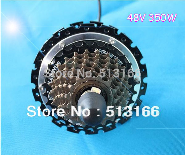 Wholesale 2015 New 24V 250W Electric Bicycle Ebike Brushless Gearless Mini Hub Rear Wheel Motor Support 7-Speed Disc Brake(China (Mainland))