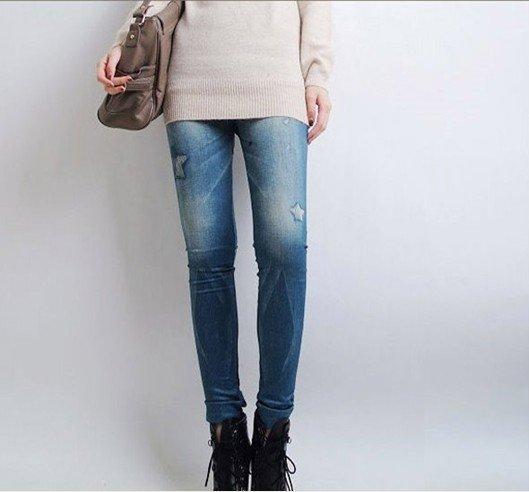2016 New Women Legging Fashion Stars Printed Look Like Fux ...