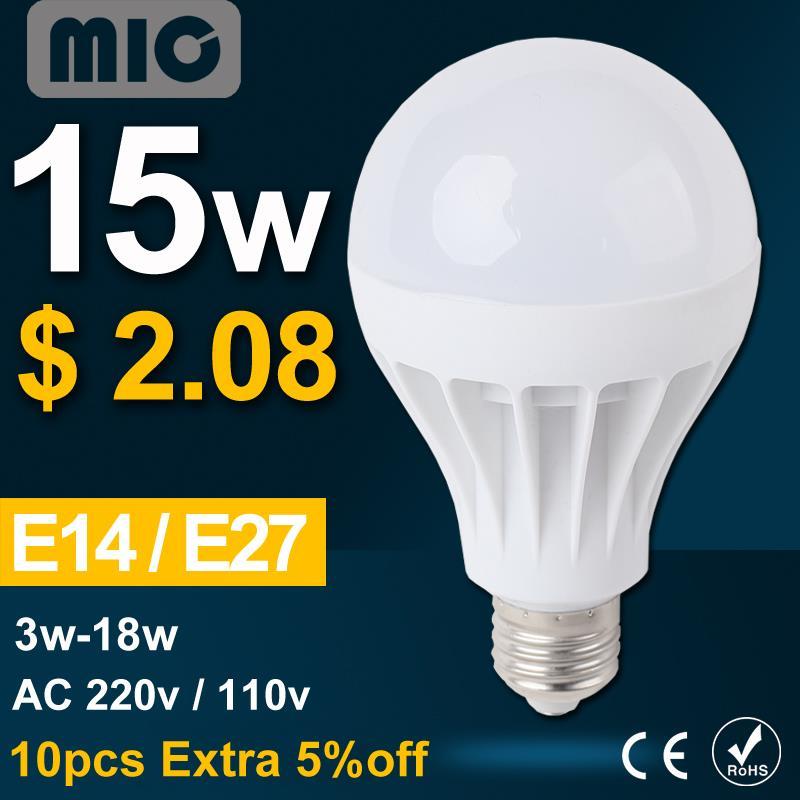 Led E27 Bulb Lamp E14 220V 110V 3W 5W 7W 9W 12W 15W Lamp Lampada Led Light Bulb 127V Wholesale Bombillas luz e27 Led spotlight(China (Mainland))