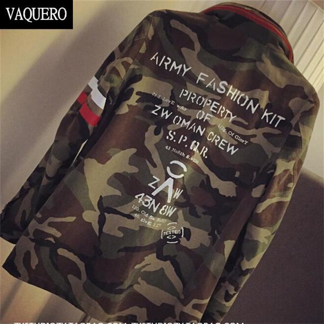 Осенняя куртка женщин 2015 новое поступление женский армия зеленый напечатаны камуфляж ...