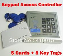 tastiera access controller , rfid serratura controllo di accesso + 5 telecomandi + 5 carte(China (Mainland))